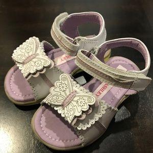 Laura Ashley Girls Sandals White/Purple